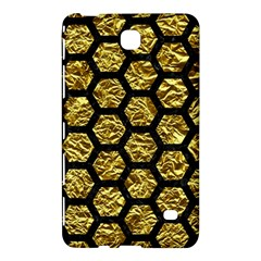 Hexagon2 Black Marble & Gold Foil (r) Samsung Galaxy Tab 4 (8 ) Hardshell Case  by trendistuff