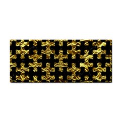 Puzzle1 Black Marble & Gold Foil Cosmetic Storage Cases by trendistuff