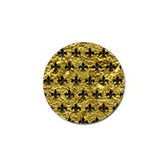 Royal1 Black Marble & Gold Foil Golf Ball Marker (4 Pack) by trendistuff