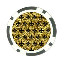 Royal1 Black Marble & Gold Foil Poker Chip Card Guard by trendistuff