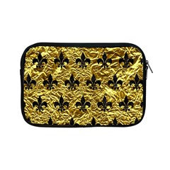 Royal1 Black Marble & Gold Foil Apple Ipad Mini Zipper Cases by trendistuff