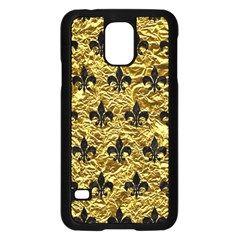 Royal1 Black Marble & Gold Foil Samsung Galaxy S5 Case (black) by trendistuff