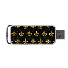 Royal1 Black Marble & Gold Foil (r) Portable Usb Flash (one Side) by trendistuff