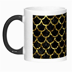 Scales1 Black Marble & Gold Foil Morph Mugs by trendistuff