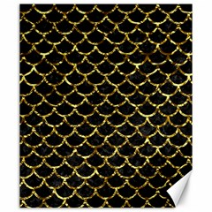 Scales1 Black Marble & Gold Foil Canvas 20  X 24   by trendistuff