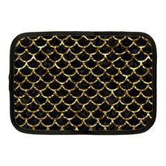 Scales1 Black Marble & Gold Foil Netbook Case (medium)  by trendistuff