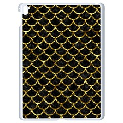 Scales1 Black Marble & Gold Foil Apple Ipad Pro 9 7   White Seamless Case by trendistuff