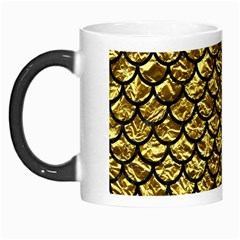 Scales1 Black Marble & Gold Foil (r) Morph Mugs by trendistuff