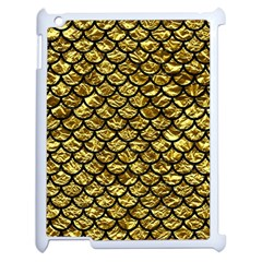 Scales1 Black Marble & Gold Foil (r) Apple Ipad 2 Case (white) by trendistuff