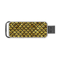 Scales1 Black Marble & Gold Foil (r) Portable Usb Flash (two Sides) by trendistuff