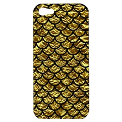Scales1 Black Marble & Gold Foil (r) Apple Iphone 5 Hardshell Case by trendistuff
