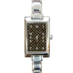 Scales2 Black Marble & Gold Foil Rectangle Italian Charm Watch by trendistuff