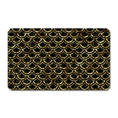 Scales2 Black Marble & Gold Foil Magnet (rectangular) by trendistuff