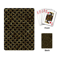 Scales2 Black Marble & Gold Foil Playing Card by trendistuff