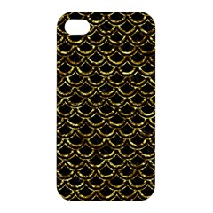 Scales2 Black Marble & Gold Foil Apple Iphone 4/4s Hardshell Case by trendistuff