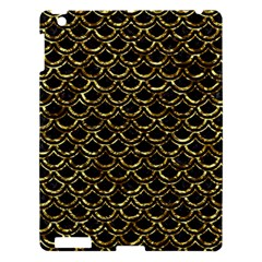 Scales2 Black Marble & Gold Foil Apple Ipad 3/4 Hardshell Case by trendistuff