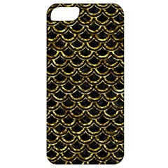 Scales2 Black Marble & Gold Foil Apple Iphone 5 Classic Hardshell Case by trendistuff