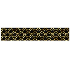 Scales2 Black Marble & Gold Foil Flano Scarf (large) by trendistuff