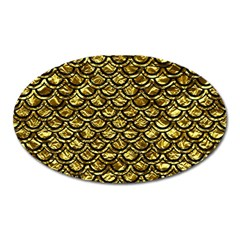 Scales2 Black Marble & Gold Foil (r) Oval Magnet by trendistuff