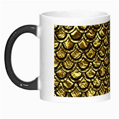 Scales2 Black Marble & Gold Foil (r) Morph Mugs by trendistuff