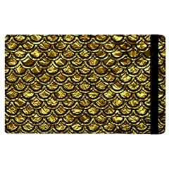 Scales2 Black Marble & Gold Foil (r) Apple Ipad 3/4 Flip Case by trendistuff