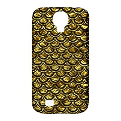 Scales2 Black Marble & Gold Foil (r) Samsung Galaxy S4 Classic Hardshell Case (pc+silicone) by trendistuff