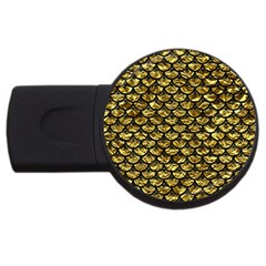 Scales3 Black Marble & Gold Foil (r) Usb Flash Drive Round (2 Gb) by trendistuff