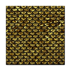 Scales3 Black Marble & Gold Foil (r) Face Towel by trendistuff