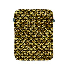 Scales3 Black Marble & Gold Foil (r) Apple Ipad 2/3/4 Protective Soft Cases by trendistuff