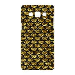 Scales3 Black Marble & Gold Foil (r) Samsung Galaxy A5 Hardshell Case  by trendistuff
