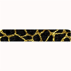 Skin1 Black Marble & Gold Foil (r) Small Bar Mats by trendistuff