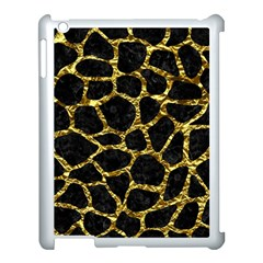 Skin1 Black Marble & Gold Foil (r) Apple Ipad 3/4 Case (white) by trendistuff