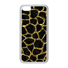 Skin1 Black Marble & Gold Foil (r) Apple Iphone 5c Seamless Case (white) by trendistuff
