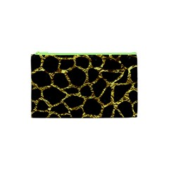 Skin1 Black Marble & Gold Foil (r) Cosmetic Bag (xs) by trendistuff