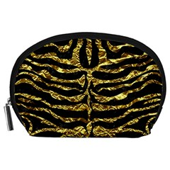 Skin2 Black Marble & Gold Foil Accessory Pouches (large)  by trendistuff