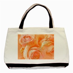 Flower Power, Wonderful Roses, Vintage Design Basic Tote Bag by FantasyWorld7