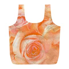 Flower Power, Wonderful Roses, Vintage Design Full Print Recycle Bags (l)  by FantasyWorld7