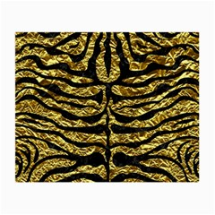 Skin2 Black Marble & Gold Foil (r) Small Glasses Cloth by trendistuff
