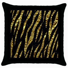Skin3 Black Marble & Gold Foil Throw Pillow Case (black) by trendistuff