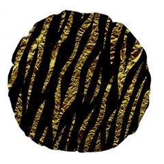 Skin3 Black Marble & Gold Foil Large 18  Premium Flano Round Cushions by trendistuff