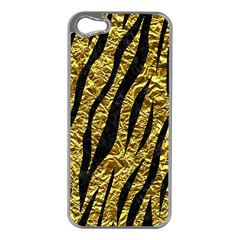 Skin3 Black Marble & Gold Foil (r) Apple Iphone 5 Case (silver) by trendistuff