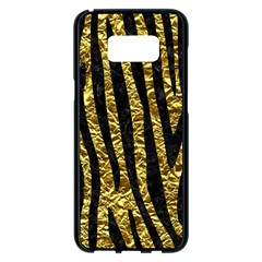 Skin4 Black Marble & Gold Foil Samsung Galaxy S8 Plus Black Seamless Case by trendistuff
