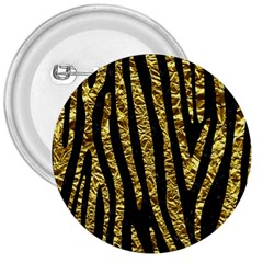 Skin4 Black Marble & Gold Foil (r) 3  Buttons by trendistuff