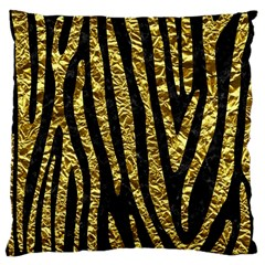Skin4 Black Marble & Gold Foil (r) Large Cushion Case (two Sides) by trendistuff