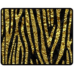 Skin4 Black Marble & Gold Foil (r) Double Sided Fleece Blanket (medium)  by trendistuff