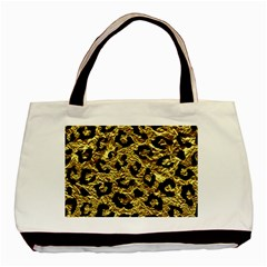 Skin5 Black Marble & Gold Foil Basic Tote Bag (two Sides) by trendistuff
