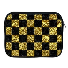 Square1 Black Marble & Gold Foil Apple Ipad 2/3/4 Zipper Cases by trendistuff