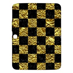 Square1 Black Marble & Gold Foil Samsung Galaxy Tab 3 (10 1 ) P5200 Hardshell Case  by trendistuff