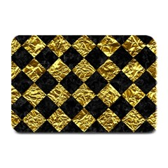 Square2 Black Marble & Gold Foil Plate Mats by trendistuff