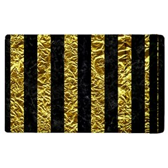 Stripes1 Black Marble & Gold Foil Apple Ipad 3/4 Flip Case by trendistuff